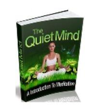Transcendental Meditation Quiet The Mind Audio Training ebook on Cd
