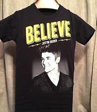 2013 JUSTIN BIEBER Believe Live Concert 30 US Cities Tour T-Shirt ~Adult Small