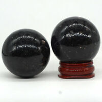 40MM Natural Gemstone Nuumite Crystal Carved Sphere Healing Ball Decor 1PC