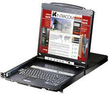 Aten Switch KVM USB-PS2 VGA 16 Porte LCD 19'' e Porta USB Dual Rail, CL5816N
