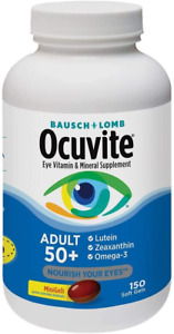 Bausch + Lomb Ocuvite Adult 50+ Vitamin & Mineral Supplement with Lutein,...