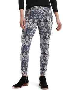 Hue Tonal floral-print denim Skimmer leggings