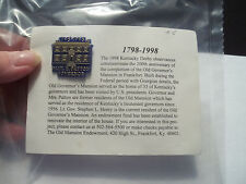 1798-1998 200th Completion Old Governor's Mansion Frankfort Kentucky Pin - Mint
