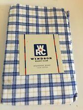 WINDSOR Rugby Club NANTUCKET Blue Brown White Plaid Standard Pillow Sham NEW