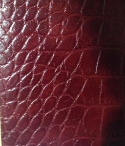 Black Alligator  leather,  Black bookbinding leather, lining leather
