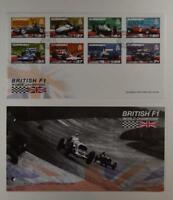 2007 GUERNSEY PRESENTATION PACK & 1 FDC BRITISH F1 WORLD CHAMPIONS LOT 374*