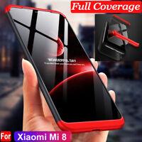 For Xiaomi MI 8 SE 360° Full Protective Hybrid Silm Case + Tempered Glass Cover