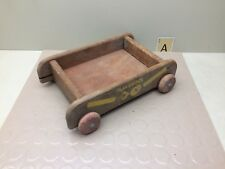 PLAYSKOOL WOODEN BLOCK WAGON PULL TOY VINTAGE