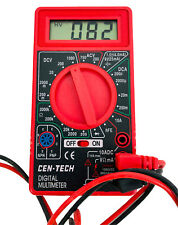 Two Cen Tech 7 Function Digital Multimeters Volt Amp Testers Tested Amp Working