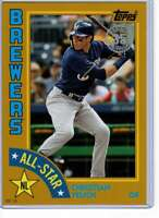 Christian Yelich 2019 Topps 1984 Topps All-Stars Oversize 5x7 Gold #84AS-CY /10