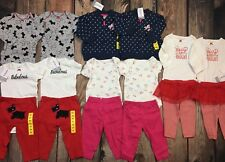 NWT Lot Twin Girls 16 pc Carters Outfits Pants Shirts Clothes Winter Size 6 Mo