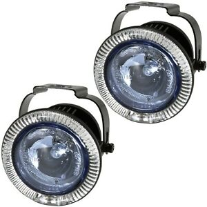 Driving / Fog Lights w/ Blue LED Accent Ring Pilot Automotive Navigator NV-583W