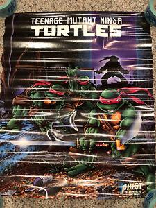 TMNT Teenage Mutant Ninja Turtles Vintage 1986 Poster First Graphic Novel RARE!