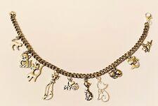 Cats Love Kittens Silver Ankle Bracelet