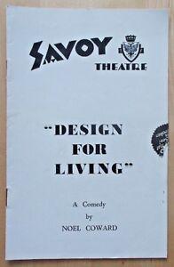 Design For Living programme Savoy Theatre ~1938 Rex Harrison Diana Wynyard