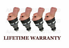 Set of 4 Jecs Flow Matched Fuel Injectors for Nissan Sentra NX 200SX 1.6L
