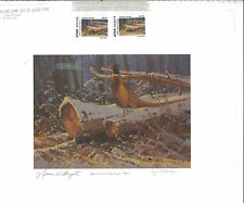 UTAH 1992  UPLAND GAME STAMP PRINT GOVERNOR ED GOV SIGNED STAMP Norman H. Banger