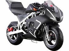 Kids Mini Ride On Motorcycle Gas Pocket Bike 4 Stroke 40CC Toy White Boys Girls