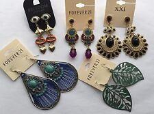NWT Wholesale E lot 5 pairs Forever 21 rhinestone teardrop chandelier earrings