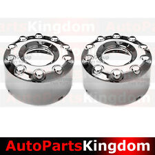 """05-17 Ford Super Duty 19"""" DUALLY Chrome 10 Lug REAR Wheel Center Hub Cap 1 PAIR"""