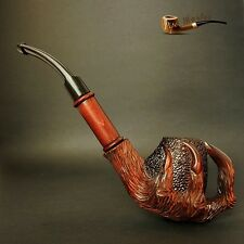"EXCLUSIVE LARGE WOODEN REAL TOBACCO SMOKING  PIPE  "" Dragon Eagle Claw """