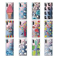 Para Samsung A40 A50 patrón lindo Goma Silicona transparente TPU Blando Estuche con Cubierta Posterior