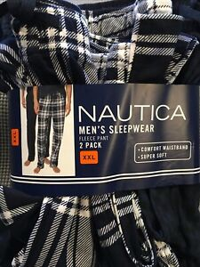 Nautica New Men's 2 Pack Fleece Pant Size XXL Super Soft Comfort Waistband