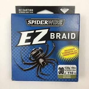 Spiderwire EZ Braid Superline Fishing Line Moss Green 30Lb 110 Yds
