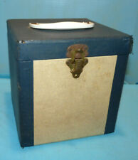 """Vintage 45 RPM Record Case Wood  7"""" Record Wood Case Holds 75 Records"""