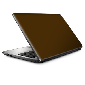 Laptop Skin Wrap Universal for 13 inch - Solid Brown