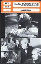 BULLDOG DRUMMOND S'EVADE - Milland(Fiche Cinéma) 1937 - Bulldog Drummond Escapes