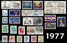 Stamp Set  From 1977 / Canadian Mint Not Hinged Stamps / Includes Se-Tenants