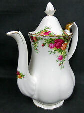 OLD COUNTRY ROSES LARGE COFFEE POT, 1st QUALITY, GC, 1993-2002, ROYAL ALBERT