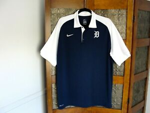 LARGE - Nike Detroit Tigers Men's Polo Shirt, MLB Authentic Collection New