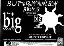 "R&R16p38 Single advert 7x10"" Butter mountain boys : the big way"