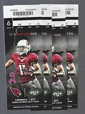 2016 NFL NEW YORK JETS @ ARIZONA CARDINALS FULL UNUSED FOOTBALL TICKETS (4)
