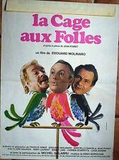 Affiche CAGE AUX FOLLES (M. Serrault) 60x40 cm