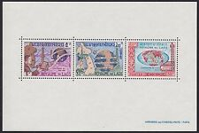 LAOS Bloc N°33** UIT , 1965, Satellite, map, radio, LAOS sheet Sc#111a MNH