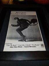 Bryan Adams Cuts Like A Knife Rare Original Radio Promo Poster Ad Framed!