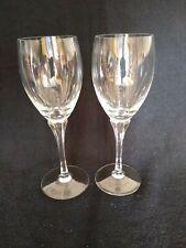 Gorham Crystal Jolie Stemware  Set of 2 Water Goblets Glasses  Excellent Cond!