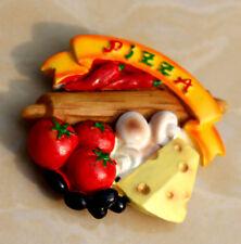 TOURIST SOUVENIR Resin 3D FRIDGE MAGNET ----- Pizza , Italy