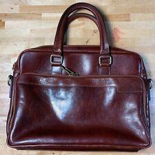 Leather Messenger Bag Briefcase Bag Satchel Brown  (8198BU)