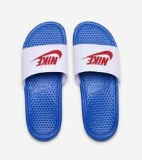 New NIKE Benassi JDI Just Do It Swoosh Sandal Slides 343880-410 Men's Size 9