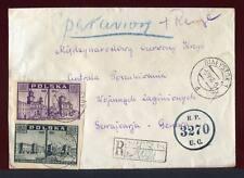 25788) POLAND 5.4.46 Reg. Cover Biatystok Geneve 22.4.1946