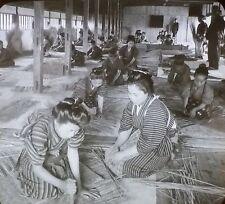 Bamboo Basket Factory, Japan, Vintage Keystone Magic Lantern Glass Photo Slide