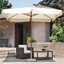 Ombrellone 3x2 da giardino in legno ideale per esterno idrorepellente poliestere
