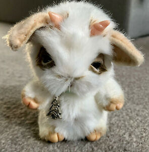 """OOAK Faux Fur Jointed Detailed Artist White Baby Goat  4"""" Adorable Buy Now NR"""