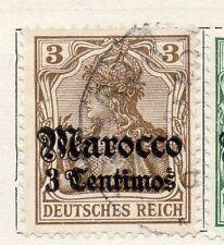 Maroc Allemand 1906 début question fine utilisé optd surcharged 3C. 105695