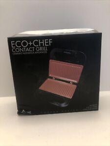 New in Box Eco + Chef Contact Grill, 760W, Copper Series, Ceramic Nonstick Appli