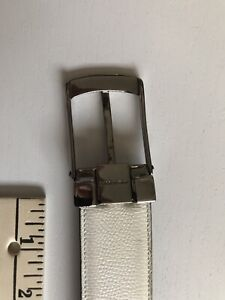 Salvatore ferragamo mens Leather Belt White Reversible Black Made In Italy 30-32